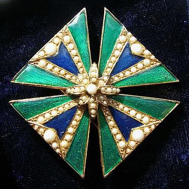 """Винтаж ручной работы. Ярмарка Мастеров - ручная работа Ciner """"Мальтийский крест"""", изящная, коллекционная брошь. Handmade."""