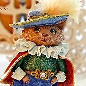"""Куклы и игрушки ручной работы. Ярмарка Мастеров - ручная работа Елочная игрушка """"Кот в сапогах"""". Handmade."""