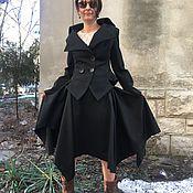 Одежда ручной работы. Ярмарка Мастеров - ручная работа Элегантный чёрный  костюм в стиле Вивьен Вествуд. Handmade.