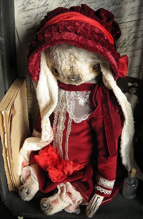 Мишки Тедди ручной работы. Ярмарка Мастеров - ручная работа. Купить Беатрис. Handmade. Бордовый, коллекционная кукла, шёлк