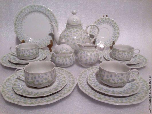 Винтажная посуда. Ярмарка Мастеров - ручная работа. Купить Чайный сервиз на 4 персоны, Kleine Bluten, Gallo, Villeroy&Boch.. Handmade.