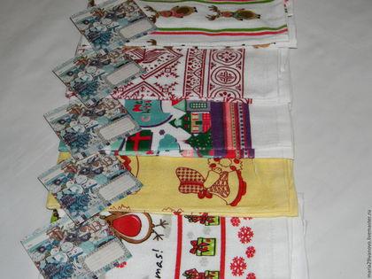 Текстиль, ковры ручной работы. Ярмарка Мастеров - ручная работа. Купить Полотенца кухонные 100 % хлопок новогодний подарок купить. Handmade.