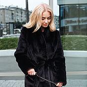Одежда handmade. Livemaster - original item The coat is a sheared black mink tissavel. Handmade.
