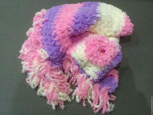 Текстиль, ковры ручной работы. Ярмарка Мастеров - ручная работа. Купить Детский плед Пушинка. Handmade. Разноцветный, плед для новорожденного