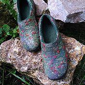 Обувь ручной работы. Ярмарка Мастеров - ручная работа Валяные тапки для улицы. Handmade.