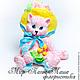 Подарок на 8 марта флористическая вставка в букет, котенок фигурка, букет цветов, подарок девушке, подарок женщине, день рождения, корпоративный подарок, подарок, восьмое марта