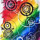 Футболки, майки ручной работы. Crazy rainbow. Марина (LCMDesign66). Ярмарка Мастеров. Ручная роспись по ткани, хлопок стрейч