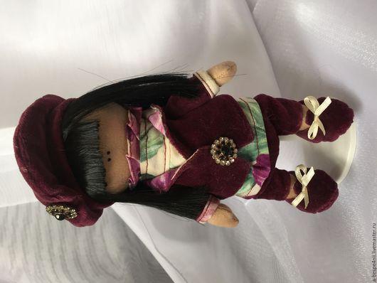 Куклы тыквоголовки ручной работы. Ярмарка Мастеров - ручная работа. Купить Француженка Николь. Handmade. Бордовый, Французский шарм, тыквоголовка
