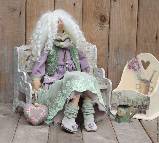 Куклы Тильды ручной работы. Ярмарка Мастеров - ручная работа. Купить Тильда Хелен. Handmade. Сиреневый, купить Тильду, нежность