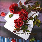 Подарки к праздникам ручной работы. Ярмарка Мастеров - ручная работа Розы на пианино. Handmade.