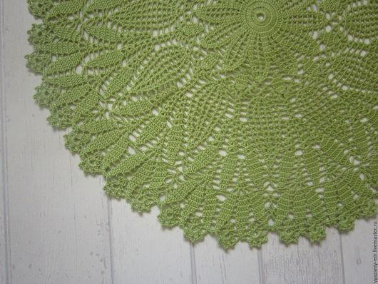 Текстиль, ковры ручной работы. Ярмарка Мастеров - ручная работа. Купить салфетка ажурная большая. Handmade. Салатовый, украшение интерьера