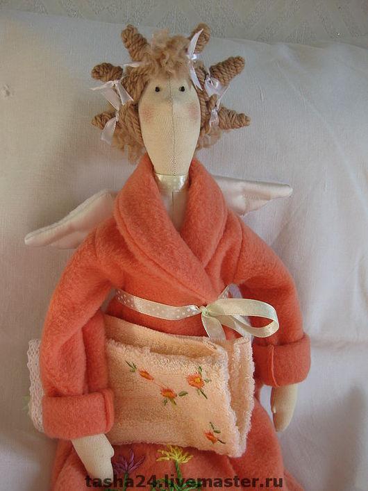 Куклы Тильды ручной работы. Ярмарка Мастеров - ручная работа. Купить Банный ангел. Handmade. Текстильная кукла, рыжий, холлофайбер