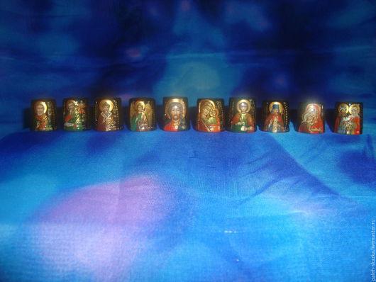Миниатюрные модели ручной работы. Ярмарка Мастеров - ручная работа. Купить декоративный напёрсток.. Handmade. Наперсток, икона, деревянная заготовка