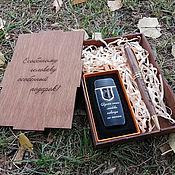 Канцелярские товары handmade. Livemaster - original item Wooden handle and lighter, gift set, engraving, design. Handmade.