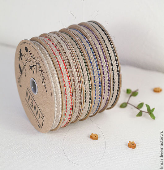 Шитье ручной работы. Ярмарка Мастеров - ручная работа. Купить Льняная тесьма 10 мм, 7 цветов. Handmade. Шитье