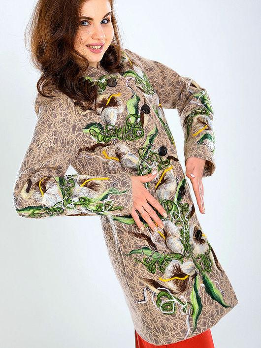 Верхняя одежда ручной работы. Ярмарка Мастеров - ручная работа. Купить ПП (П) 05. Handmade. Цветочный, модное пальто