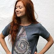 """Одежда ручной работы. Ярмарка Мастеров - ручная работа Блузка """"Галактика"""" с войлочной вставкой. Handmade."""