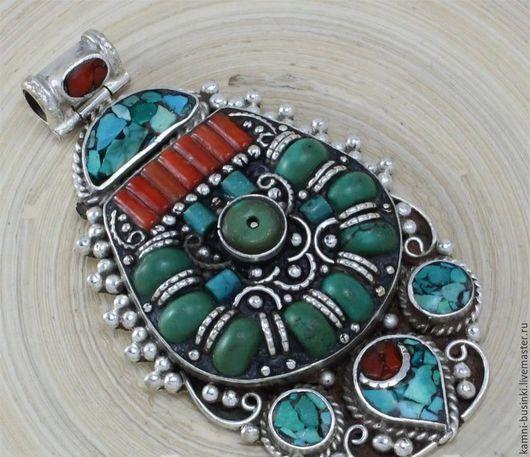 Для украшений ручной работы. Ярмарка Мастеров - ручная работа. Купить Подвески в ассортименте серебро бирюза, коралл Непал. Handmade.