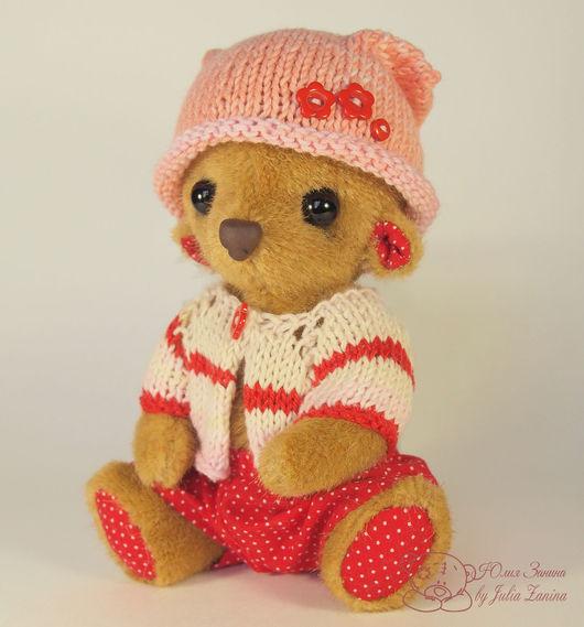 Тедди. Мишка Тедди. Серёжка. Занина Юлия. Коллекционная игрушка. Авторская игрушка. Лучший подарок. Подарок для девушки. Handmade.