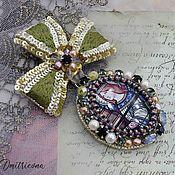 Украшения handmade. Livemaster - original item Brooch Order of the Angel stained glass. Handmade.