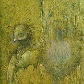 Зелёный Страж.  Сказочная картина, фэнтези. Пастель.
