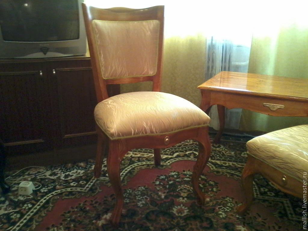 Мебель ручной работы. Ярмарка Мастеров - ручная работа. Купить Журнальный стол,стулья,пуфик. Handmade. Пуф, журнальный стол