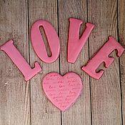 """Пряники ручной работы. Ярмарка Мастеров - ручная работа Набор пряников """"LOVE"""". Handmade."""