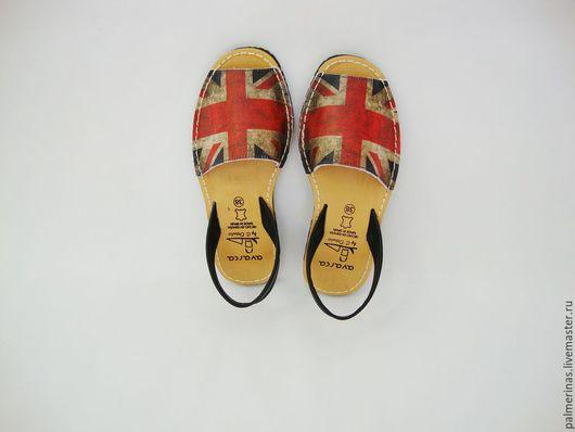 Обувь ручной работы. Ярмарка Мастеров - ручная работа. Купить Супер модные сандалии London. Handmade. Разноцветный, кожаные сандалии