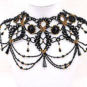 Украшения handmade. Livemaster - original item Lace necklace stand of beads