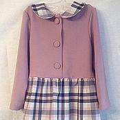 Одежда ручной работы. Ярмарка Мастеров - ручная работа Комбинированное платье для школьницы. Handmade.