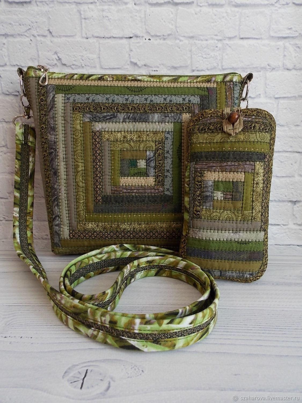 Patchwork bag 'Grass', patchwork, Ethno, Forest, Green, Crossbody bag, Novosibirsk,  Фото №1