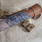 Сумки и аксессуары handmade. Livemaster - original item Leather sheath, sheath made of leather with a picture. Handmade.