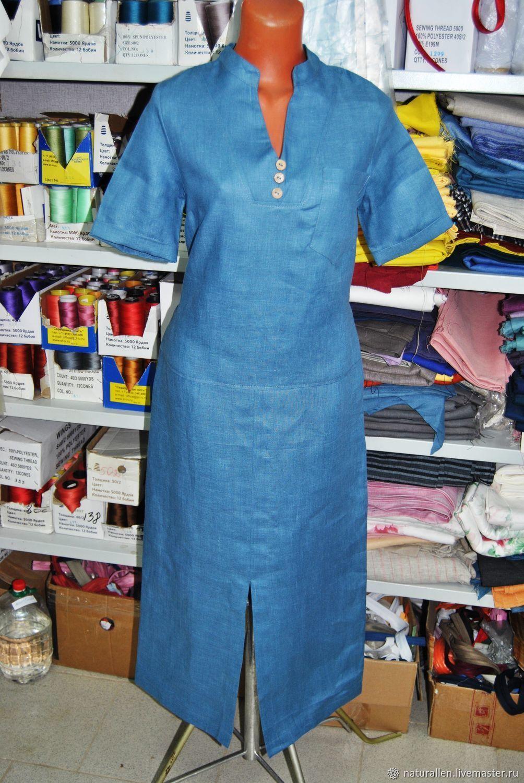Льняное платье в пол арт 10, Платья, Кострома,  Фото №1