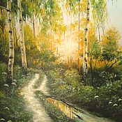 Картины и панно handmade. Livemaster - original item Pictures: Oil painting on canvas Sultry noon. Handmade.