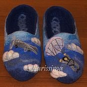 Обувь ручной работы handmade. Livemaster - original item Slippers male-themed. Handmade.