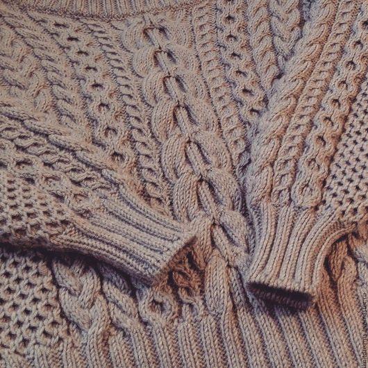 """Кофты и свитера ручной работы. Ярмарка Мастеров - ручная работа. Купить Свитер """"Ruban"""". Handmade. Бежевый, свитер с косами"""