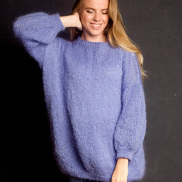 Одежда ручной работы. Ярмарка Мастеров - ручная работа Мохеровый свитер оверсайз. Handmade.
