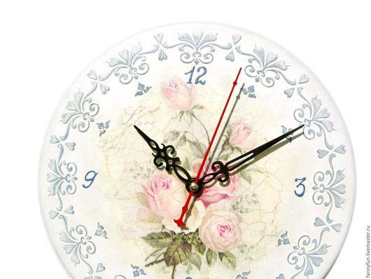 Часы для дома ручной работы. Ярмарка Мастеров - ручная работа. Купить Часы настенные Шебби-шик: Время любить. Handmade.