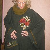 """Одежда ручной работы. Ярмарка Мастеров - ручная работа Пальто пончо """"Букет"""". Handmade."""
