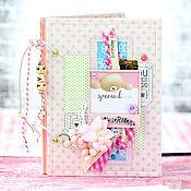 Подарки к праздникам ручной работы. Ярмарка Мастеров - ручная работа Дневник молодой мамы для девочки в розовых тонах.. Handmade.