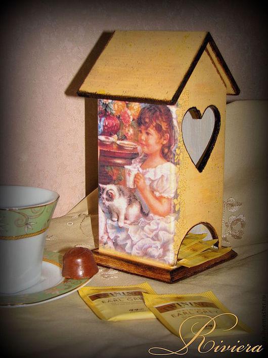"""Кухня ручной работы. Ярмарка Мастеров - ручная работа. Купить Чайный домик """"Чаепитие"""". Handmade. Бежевый, кантри, пакетики"""