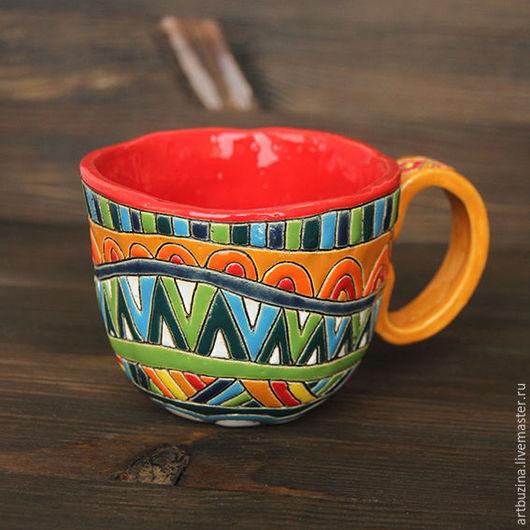 Кружки и чашки ручной работы. Ярмарка Мастеров - ручная работа. Купить керамическая небольшая кружечка. Handmade. Комбинированный, Керамическая масса