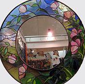 Зеркала ручной работы. Ярмарка Мастеров - ручная работа Зеркало с витражной рамой.. Handmade.