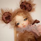 Куклы и игрушки ручной работы. Ярмарка Мастеров - ручная работа Мышка Мио, тедди долл. Handmade.