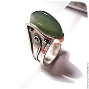 Украшения handmade. Livemaster - original item Ring pendant with vesuvianite. Handmade.