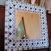 """Для дома и интерьера ручной работы. Ярмарка Мастеров - ручная работа Настенное зеркало в мозаичной раме """"Вдохновение"""". Handmade."""