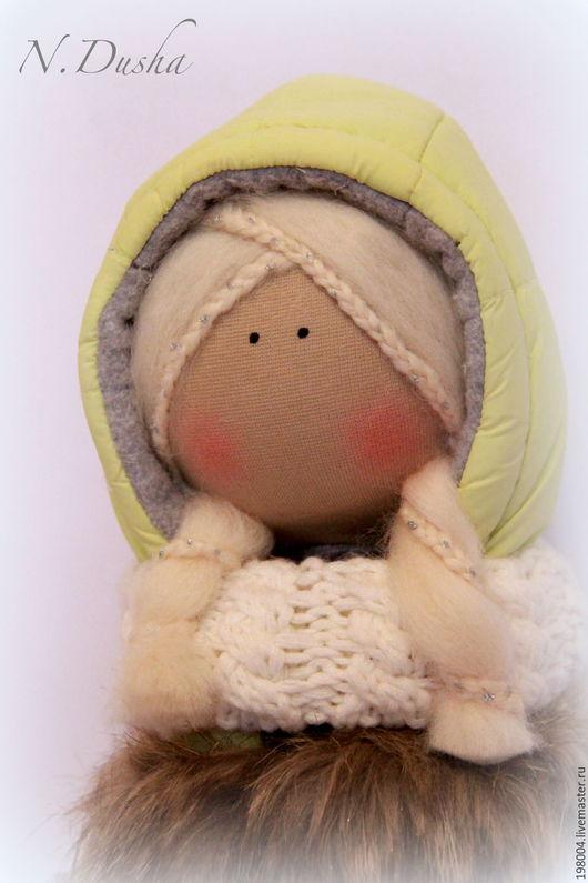 Куклы тыквоголовки ручной работы. Ярмарка Мастеров - ручная работа. Купить Зимняя кукла. Handmade. Салатовый, подарок, подарок для девочки