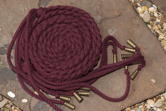 Пояса, ремни ручной работы. Ярмарка Мастеров - ручная работа. Купить Плетеный пояс Марсала. Handmade. Пояс, плетеный поясок