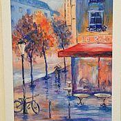 Картины и панно ручной работы. Ярмарка Мастеров - ручная работа картина Парижское кафе. Handmade.