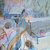 """Картины и панно ручной работы. Ярмарка Мастеров - ручная работа Триптих """"Зимняя акварель"""". Handmade."""